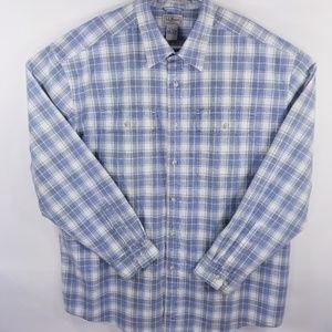 L.L bean traditional fit long sleeve shirt
